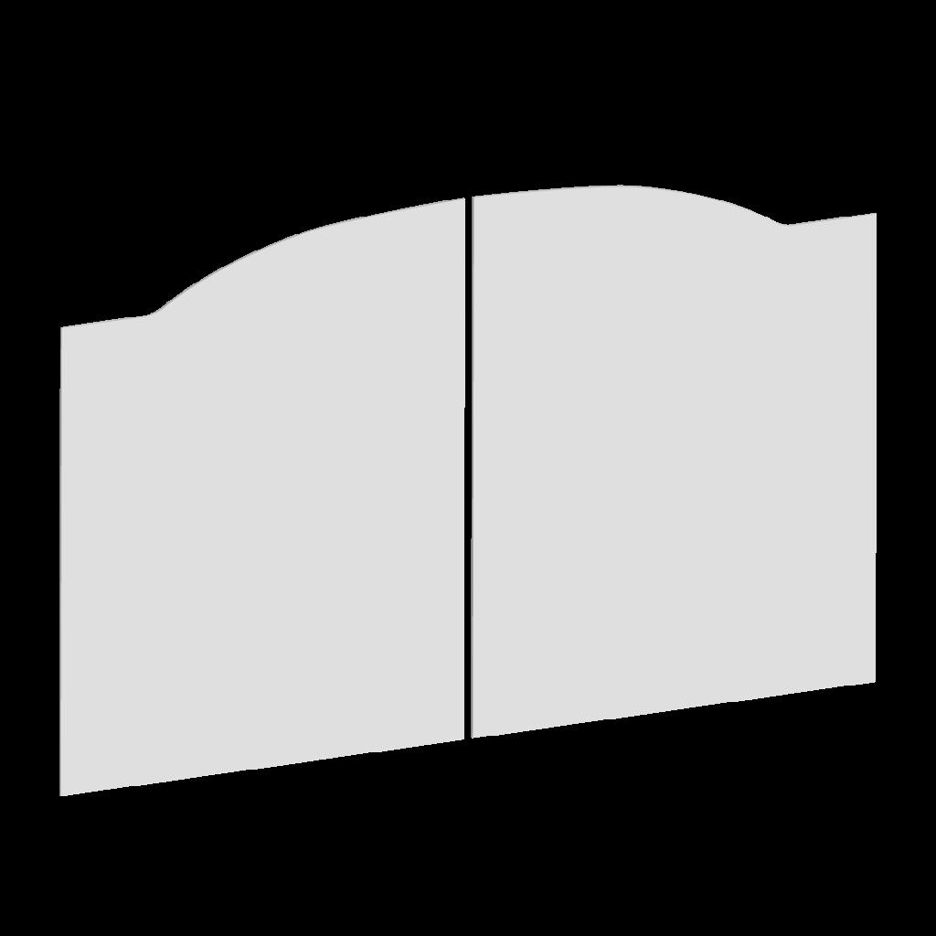 Forme du portail battant D