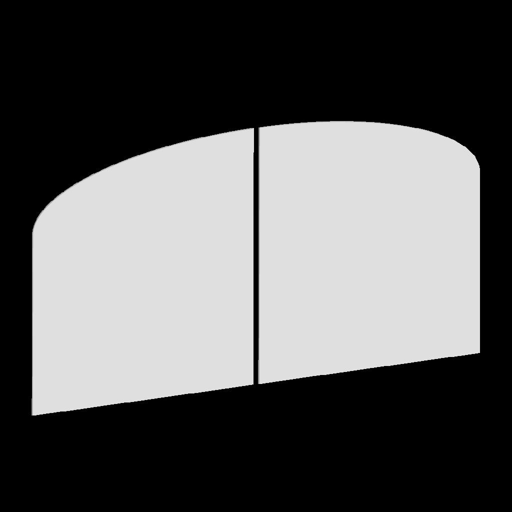 Forme du portail battant F
