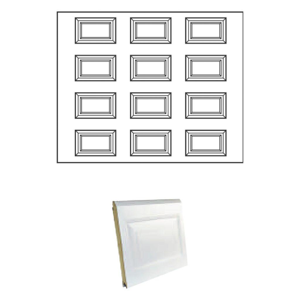porte sectionnelle à casettes
