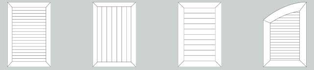configuration des volets battants aluminium à cadre