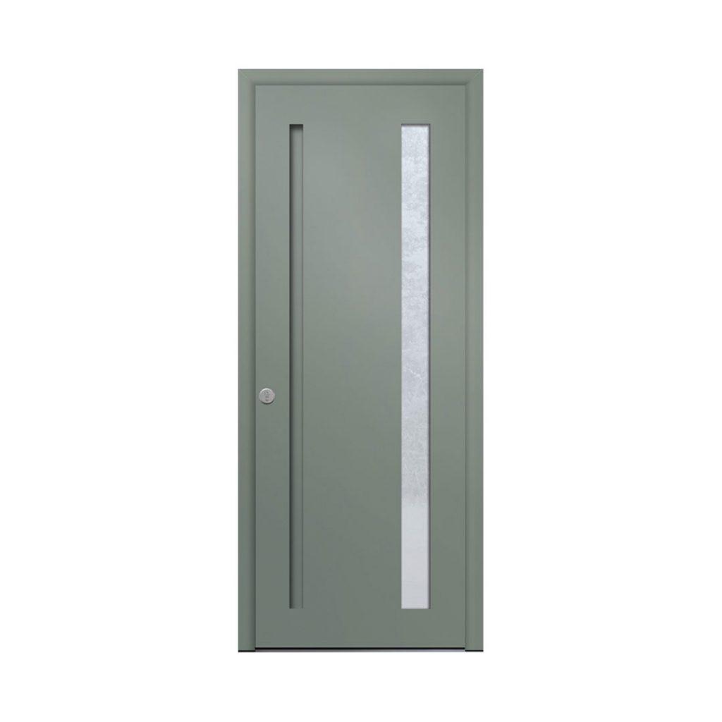 porte d'entrée classique couleur 7033