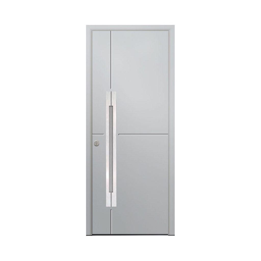 porte d'entrée classique couleur gris claire