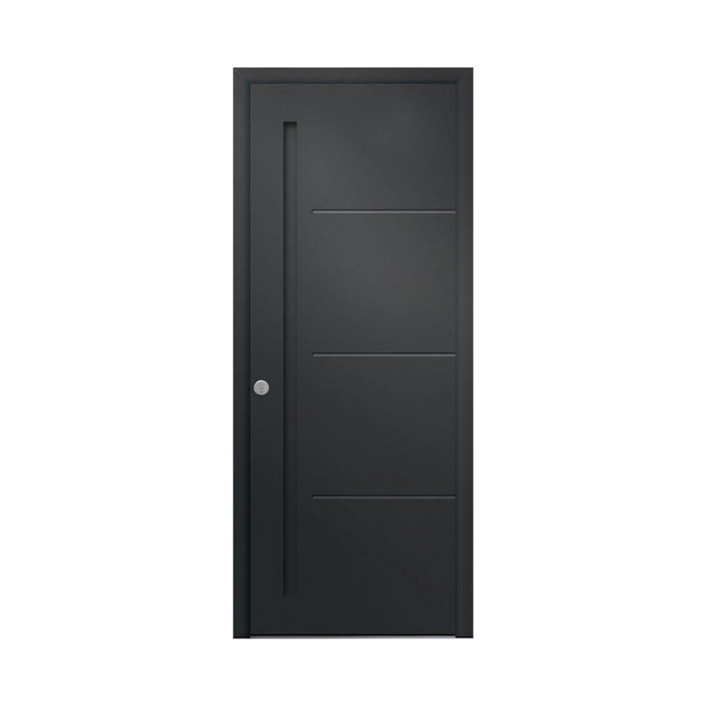 porte d'entrée classique couleur gris anthracite