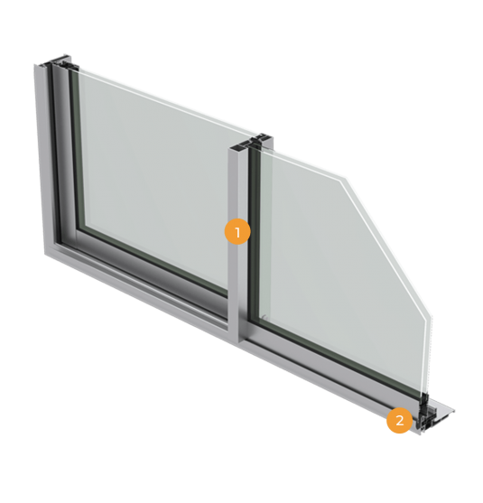 Coupe coulissant aluminium par APPY menuiserie